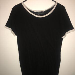 forever 21 black and white ringer tshirt dress L